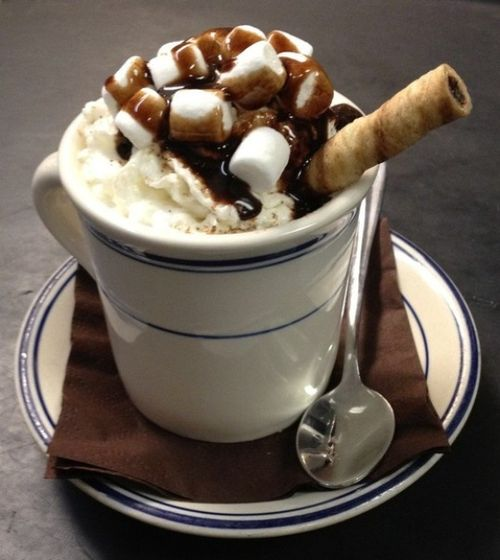 Кофе с зефиром маршмеллоу