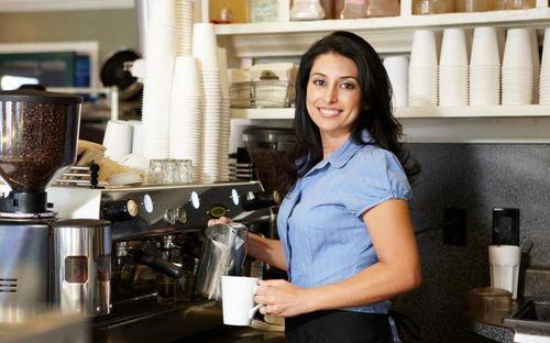 Кофемашина в закусочной