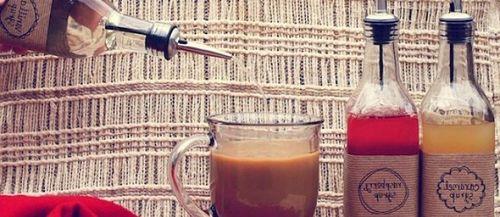Добавление сиропа в кофе